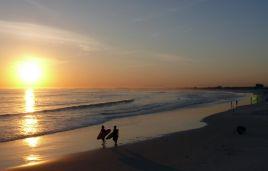 Sonnenuntergang an der Praia Grande