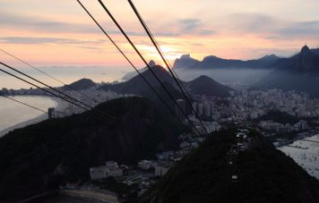 Aussicht vom Zuckerhut nach Copacabana und Botafogo