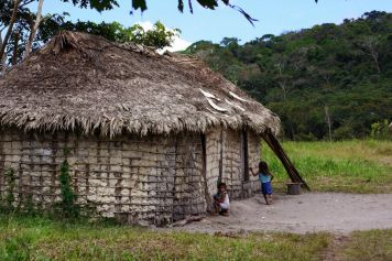 Behausung der Ingarikó-Indios