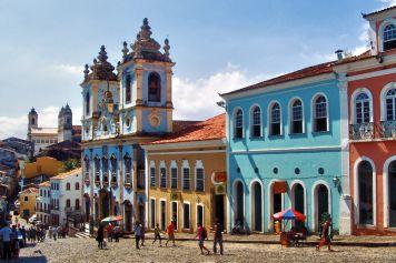 Der Largo do Pelourinho in Salvadors Altstadt