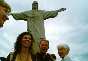 Sabine Czerner, Beatrice und Jules Nussbaumer mit Guide Annette