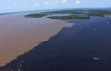 Luftaufnahme des Encontro das Águas