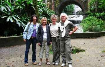Grafs und Gepperts mit Guide Annette im Sítio Burle Marx