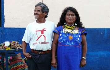 Der Kazike (Häuptling) mit seiner Frau