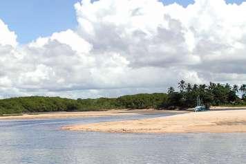 Der Strand von Ponta de Corumbaú